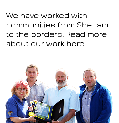 AED Defibrillator Training Communities Scotland Making a Difference