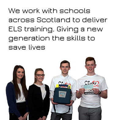 Lucky2BHere Inverness School Training Saving Lives AED Equipment