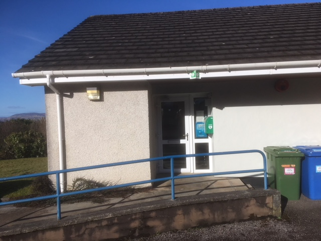 Location of the defib at Applecross Surgery
