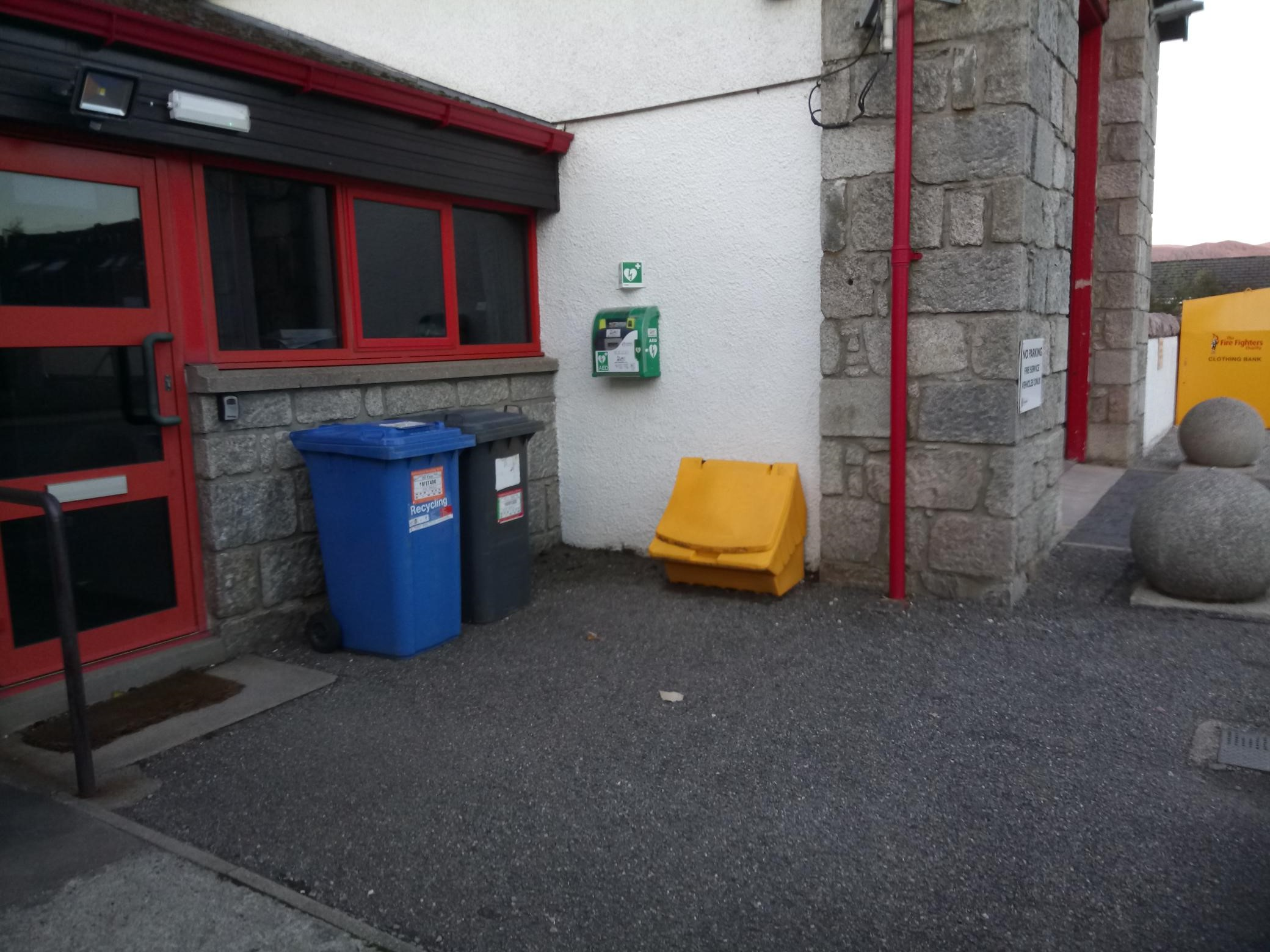 Defib at Aviemore Fire Station