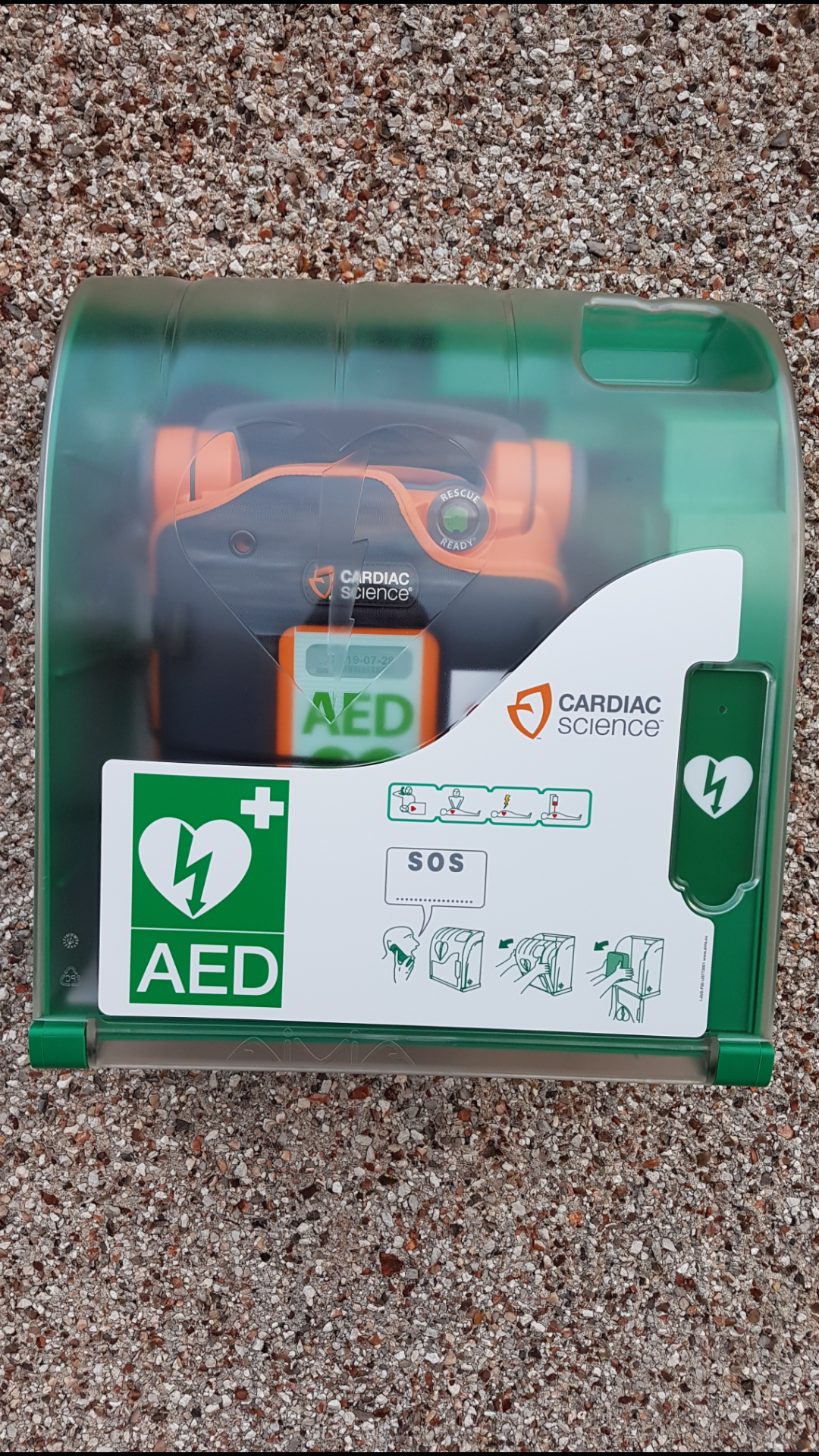 Defib at Bragar Meeting House