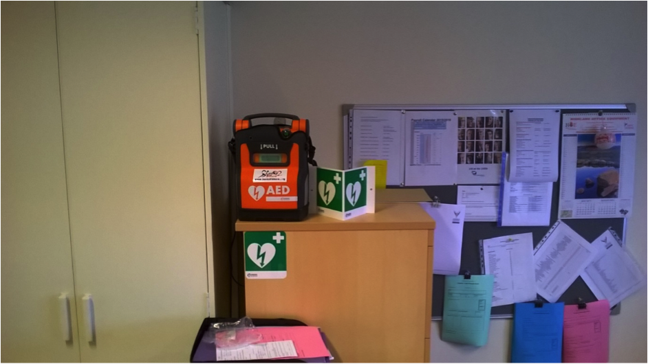 Defib at Camanachd Association