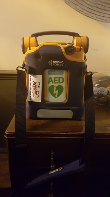 Defib at Flodigarry Hotel