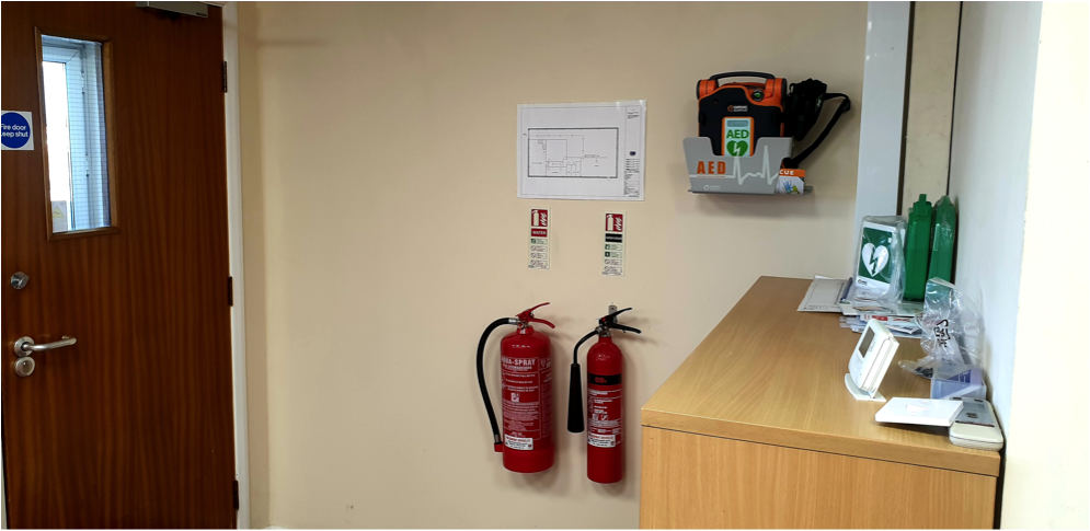 Defib at HF Electrical Stockport