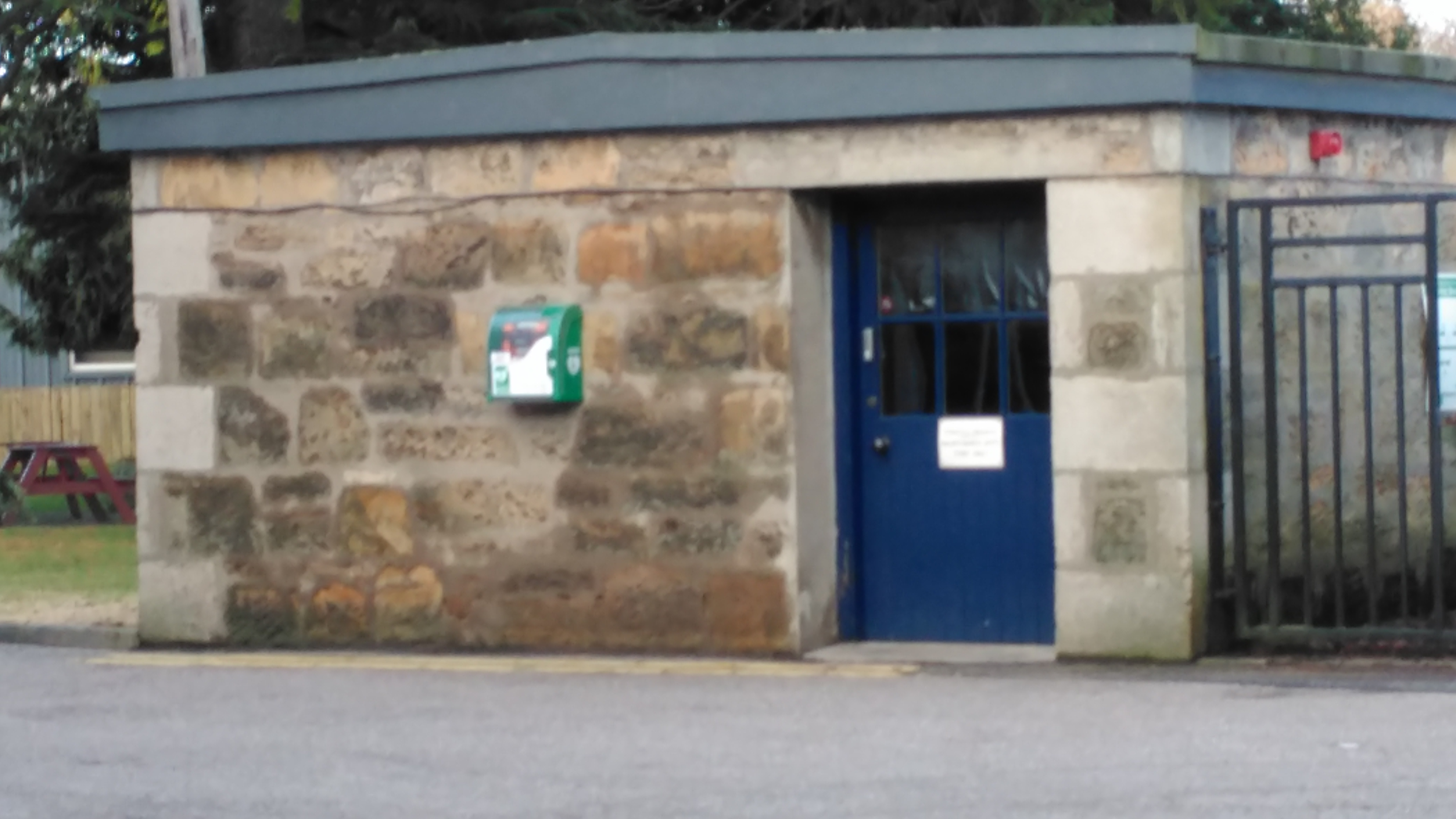 Defib at Johnstons of Elgin