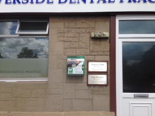 Defib at Riverside Dental Practice, Stirling