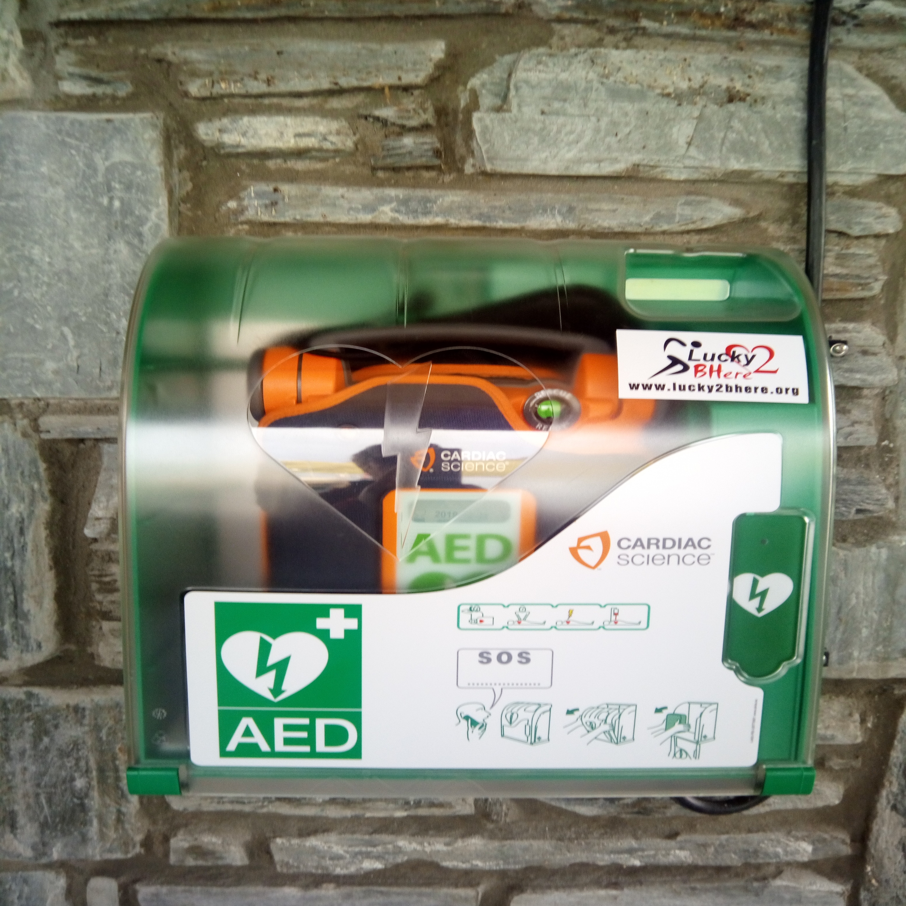 Defib at Sconser Ferry Terminal