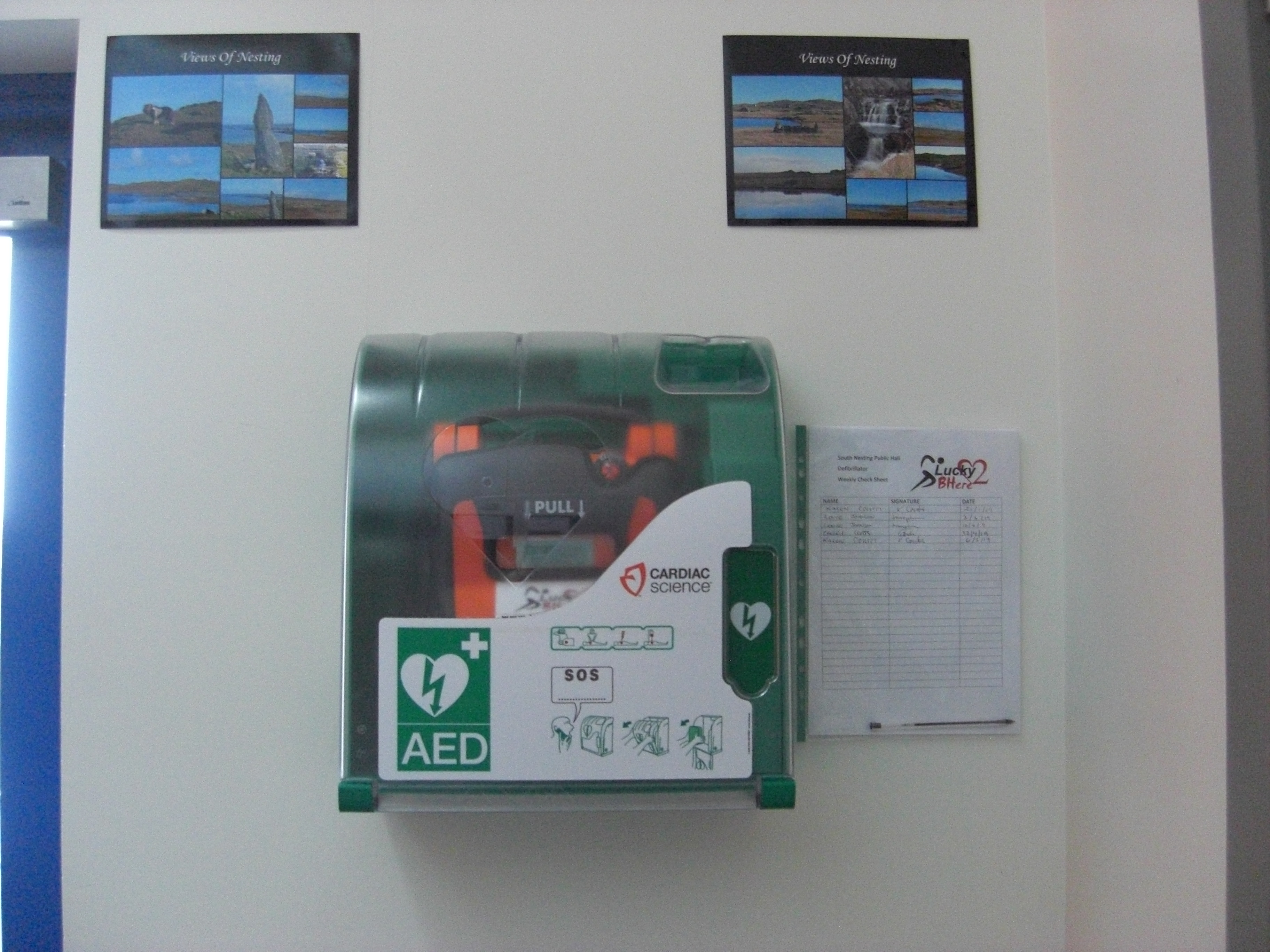 Defib at South Nesting Public Hall